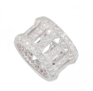 Cartier Diamond Column Ring in White Gold