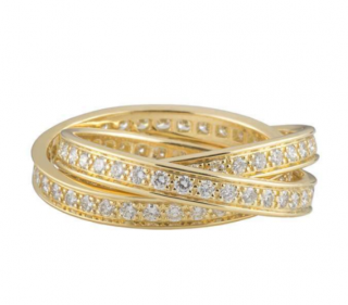 Cartier Diamond Trinity Ring in Yellow Gold