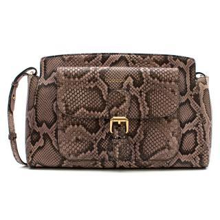 Burberry Natural Python Leather Shoulder Bag