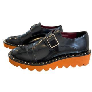 Stella McCartney black monk strap shoes
