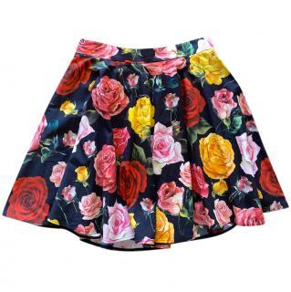 Dolce & Gabbana high waisted floral print mini skirt