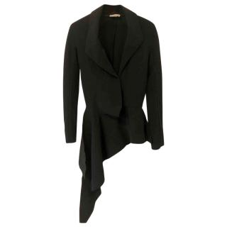 BALENCIAGA Black Asymmetric Tailored Jacket