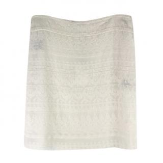 Isabel Marant Ivory Embroidered Skirt