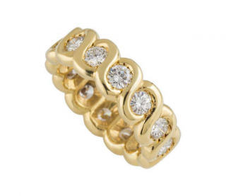 Van Cleef & Arpels Yellow Gold Diamond Set Band Ring