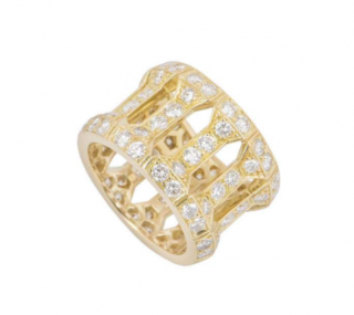 Cartier Yellow Gold Ring with Diamonds