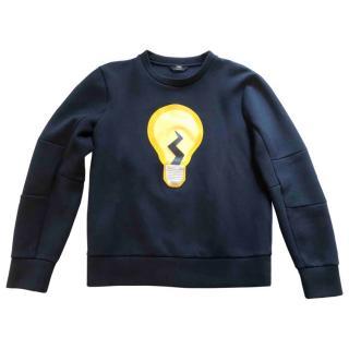 FENDI Navy Lightbulb Kid's Sweater