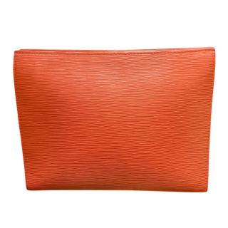 Louis Vuitton Orange Epi Leather Pouch 26