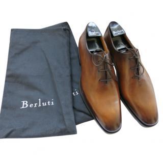 Berluti Antique Brown Leather Oxfords