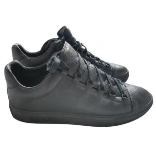 Balenciaga Black Arena Leather Sneakers