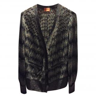 MIssoni Lurex Chevron Knit Cardigan