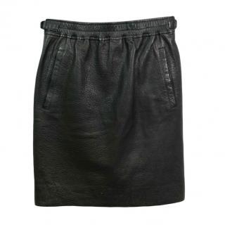 Isabel Marant Black Leather Skirt