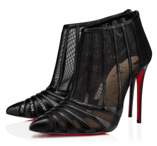 Christian Louboutin Black Baleine Stiletto Booties - New Season