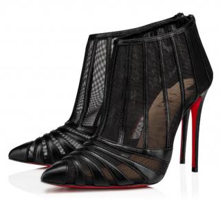 Christian Louboutin Black Baleine Stiletto Booties - New Season