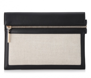 Victoria Beckham Canvas & Leather Zip Pouch