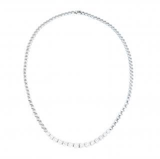 Bespoke White Gold 2.3ct Diamond Necklace