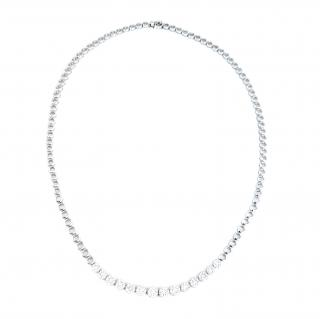 Bespoke White Gold 2.3ct Diamond Necklace