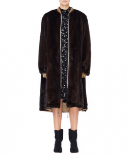 Yves Salomon Long Reversible Mink Fur Bomber Jacket