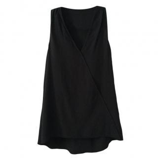 Tibi Black Silk Sleeveless Top