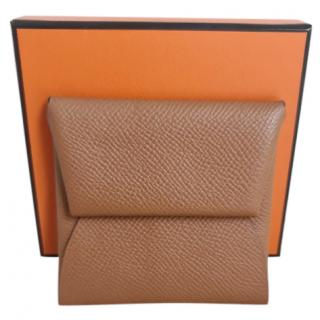 Hermes Gold Epsom Leather Batista Coin Purse