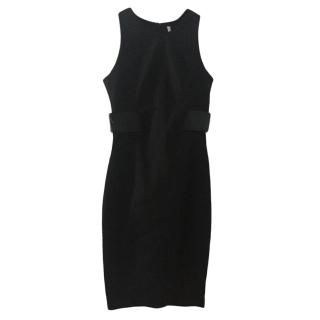 Faith Connexion Fitted Leather Panelled Stretch Dress
