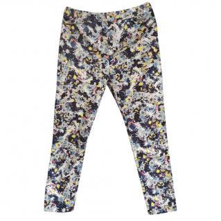 Erdem Floral Print Slim Leg Jeans