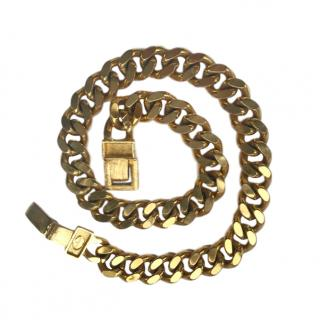 Givenchy Gold Plated Vintage Curb Chain