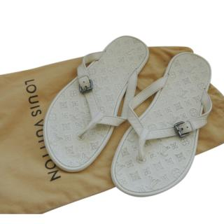 Louis Vuitton Men's White Monogram Sandals