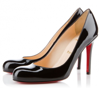 Christian Louboutin Simple Pump 100 Black Patent Leather