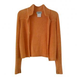 Chanel Orange Textured Knit Jacket