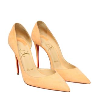 Christian Louboutin Izria D'Orsay Suede Pumps