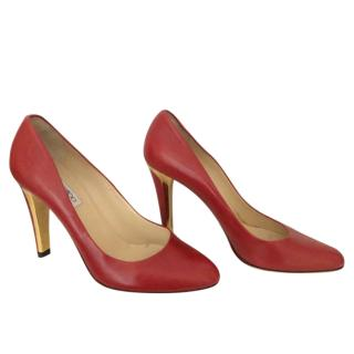 Jimmy Choo Betsy Red Leather Pumps