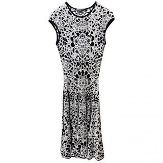 Alexander McQueen Black & White Sleeveless Knit Dress