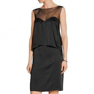 Maison Margiela Black Satin Layered Lace-Up Back Dress