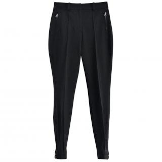 PHI black zip detail biker trousers
