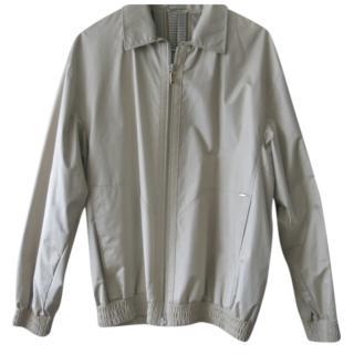 Zilli beige silk bomber jacket XL