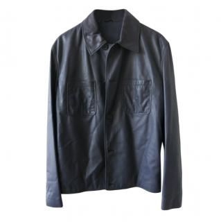 Hermes Men's Soft Lambskin Leather Jacket