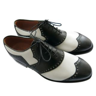 Silvano Lattanzi Black & White Golf Shoes