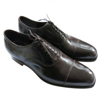 Silvano Lattanzi brown Handmade Leather Oxfords
