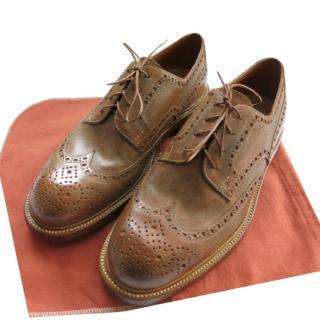 Silvano Lattanzi Waxed Nubuck Leather Brogues