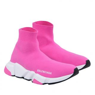 Balenciaga Pink Stretch Sock Knit Trainers