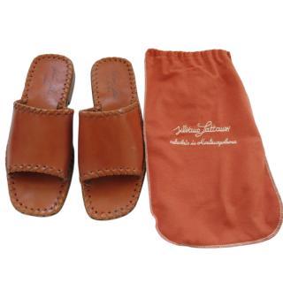 Silvano Lattanzi Tan Handmade Leather Sandals