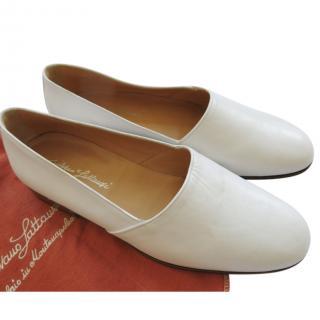 Silvano Lattanzi White Handmade Men's Slides
