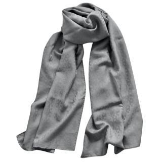 Hermes Grey Silk & Cashmere Scarf