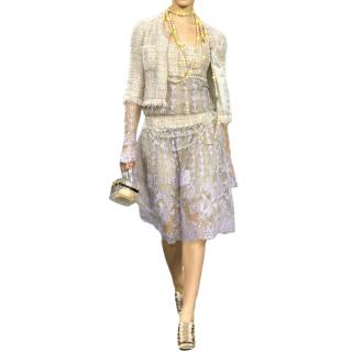 Chanel Vintage Tweed & Lace Runway Dress - Matching Jacket Available