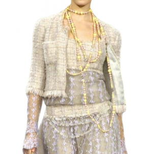 Chanel Vintage Tweed & Lace Runway Jacket - Matching Dress Available