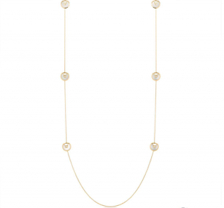 Cartier Gold Mother Of Pearl By The Yard Necklace