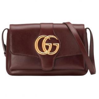 Gucci Burgundy Leather Arli Small Shoulder Bag