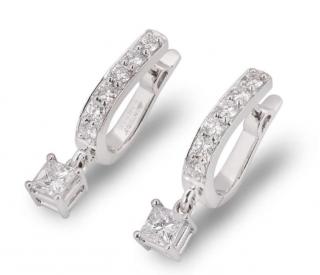 Bespoke White Gold Diamond Drop Earrings