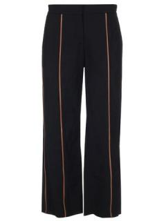 Loewe Black Leather Piped Pants