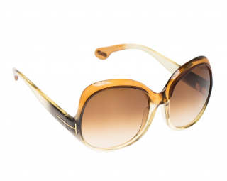 Tom Ford Brown Marcella TF80 Oversized Round Sunglasses